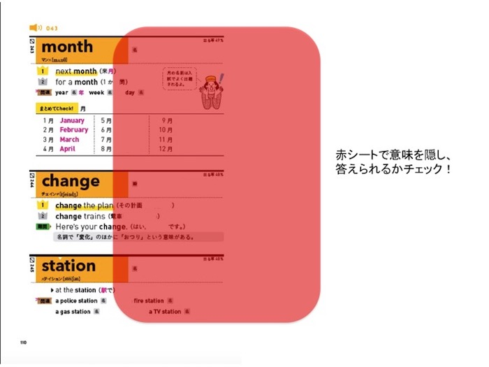 高校入試ランク順中学英単語1850赤シート
